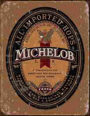 MICHERLOB BEER NOSTALGIC METAL SIGN