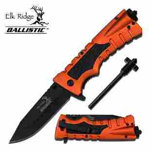 """8.5"""" S/A POCKET KNIFE COMES W/FIRE STARTE AND WINDOW BR"""