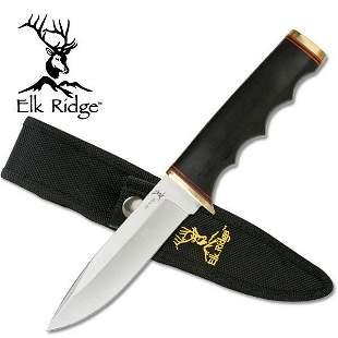 """9.5"""" BLACK PAKKAWOOD HANDLE KNIFE"""