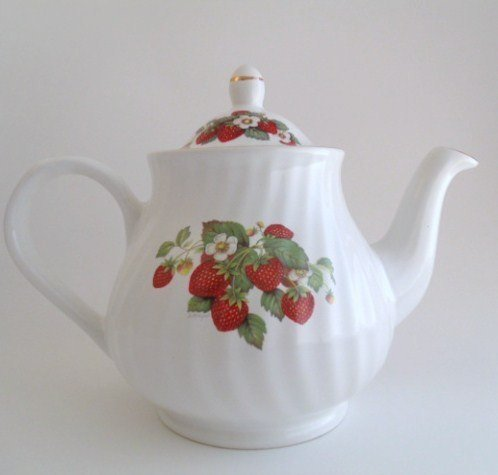 Arthur Wood and Son Teapot, Floral Strawberry