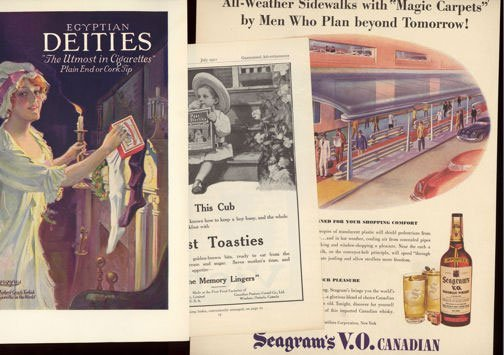 Full Page Magazine Ads from the 1920s - 1950s