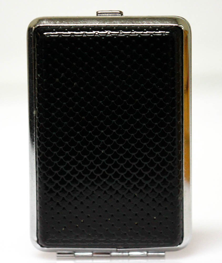 BLACK LEATHER STYLED CIGARETTE CASE