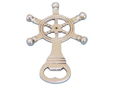 """Nautical Solid BrassShip Wheel Bottle Opener 5"""""""