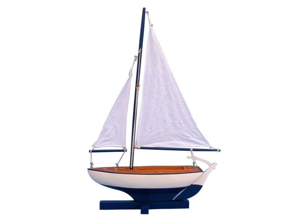 "Hand Made Sunset Sailboat Blue 17"""