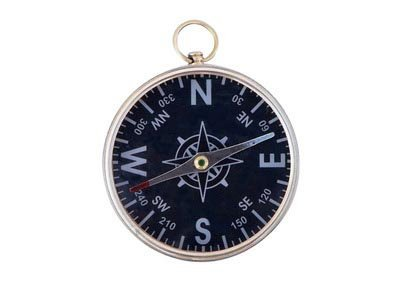 """Nautical Solid BrassAdmiral's Black Faced Compass 4"""""""