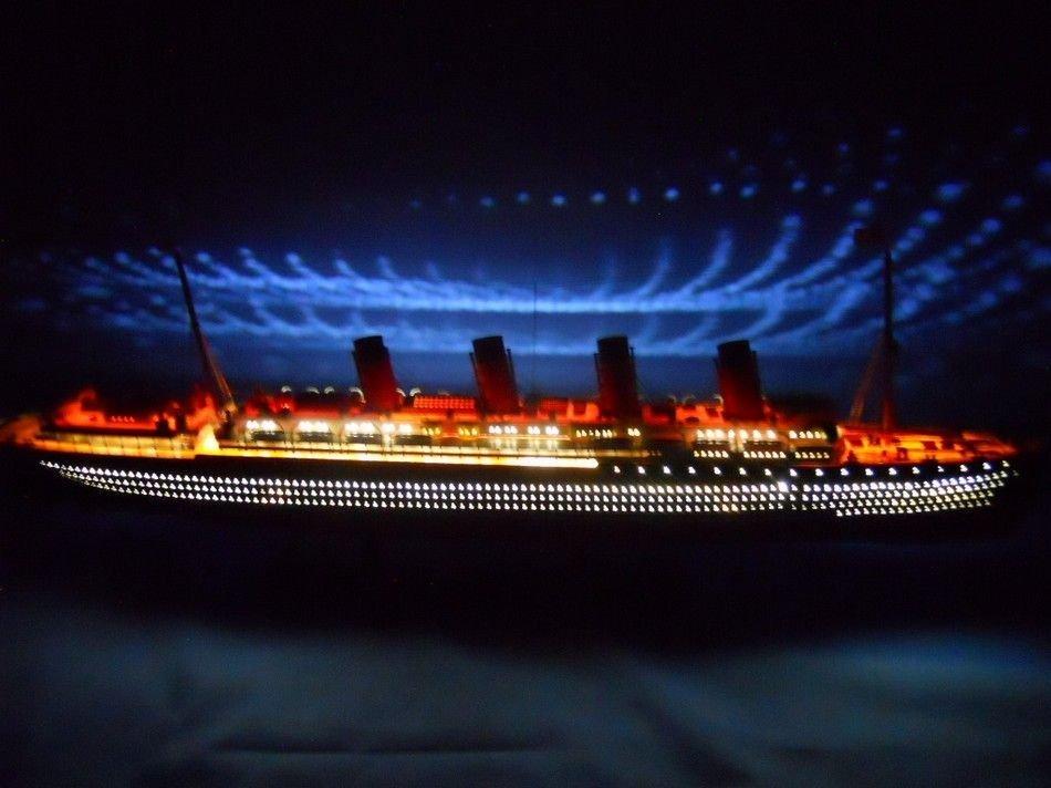"HandMade RMS Lusitania Limited Edition 40"" w/ LED Light"