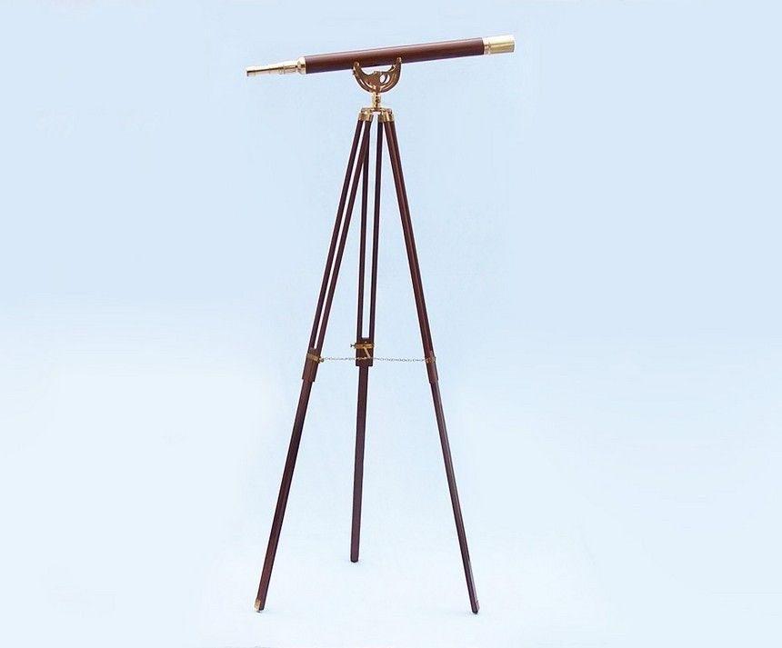 Nautical Floor Standing Brass/Wood Anchormaster Telesco