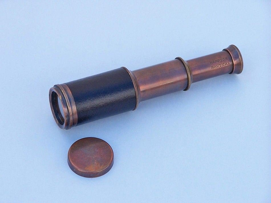 """Antique Style Copper and Leather Nautical Telescope 7"""""""