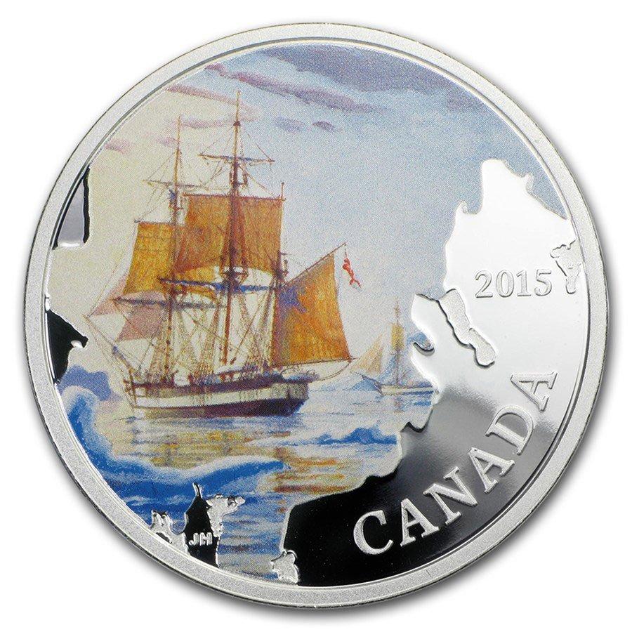 2015 Canada 1 oz Silver Lost Ships Franklin's Lost Expe