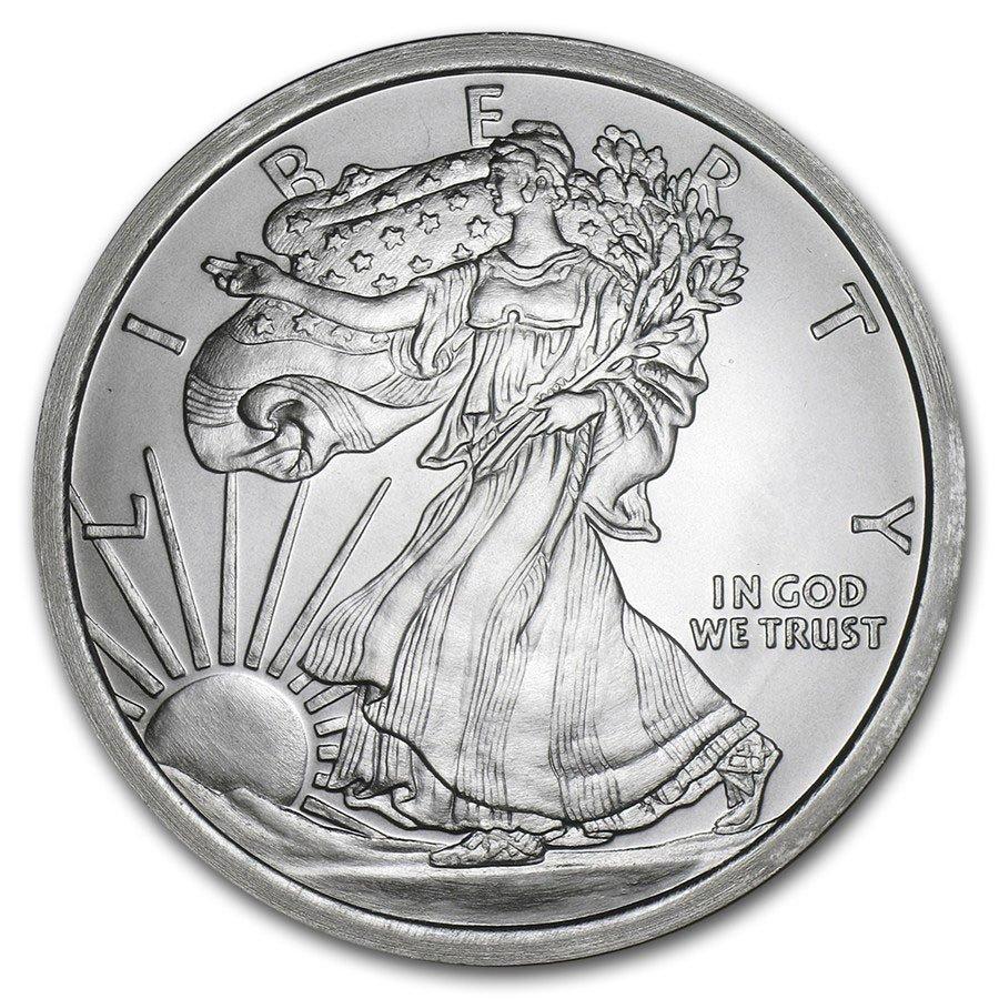 5 oz Silver Round - Walking Liberty
