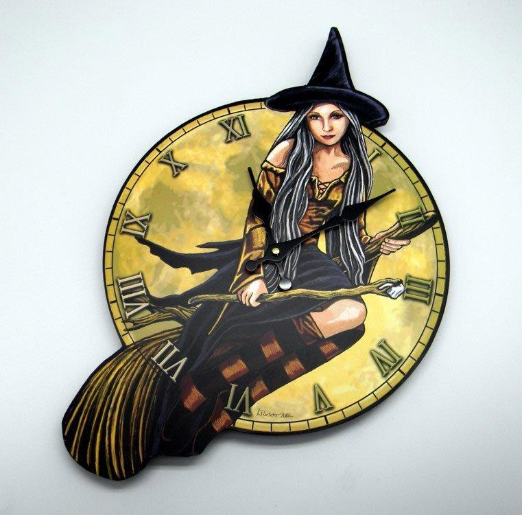 """Lisa Parker designer Witch Clock 18"""" x 12"""""""