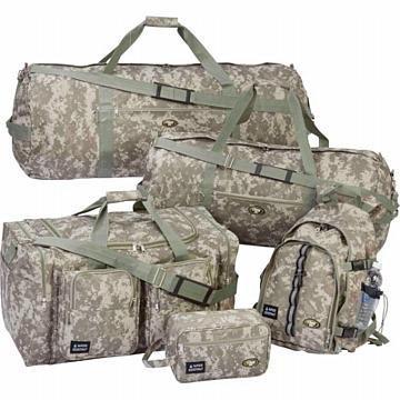Extreme Pak Digital Camo Water-Resistant 5pc Luggage Se