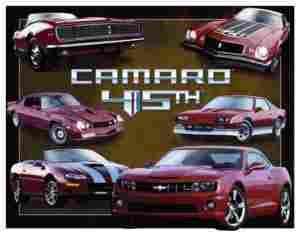 CAMARO METAL SIGH