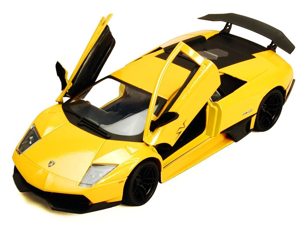 COLLECTIBLE YELLOW LAMBORGHINI MURCIELAGO DIECAST MODEL