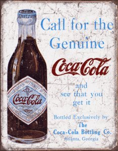 GENUINE COCA COLA METAL SIGN