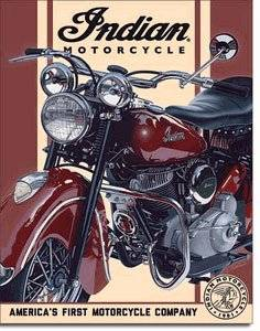 INDIAN MOTERCYCLE METAL SIGN
