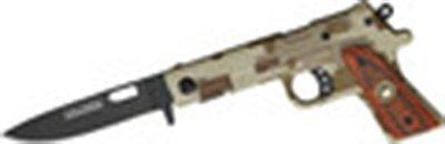 "7.8"" TAC-FORCE GUN SHAPED KNIFE"