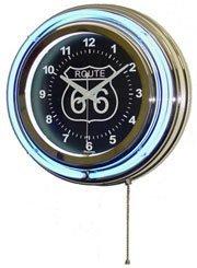 """RTE 66 15"""" NEON WALL CLOCK"""