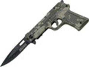 "4.5"" CLOSED TAC-FORCE GUN SHAPED KNIFE"