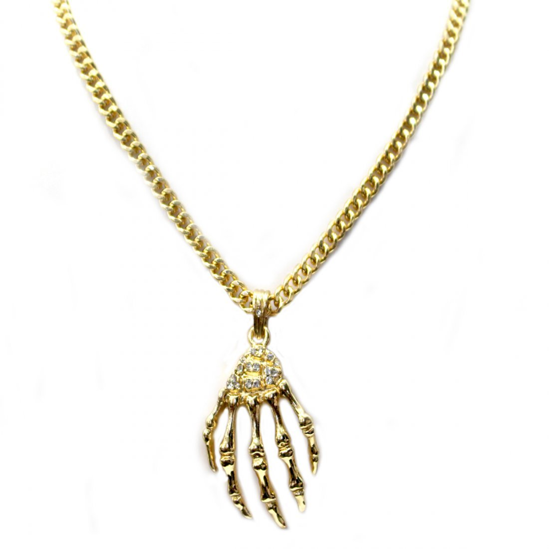 REAPERS GRASP CZ AND BRASS PENDANT COMES W/CHAIN
