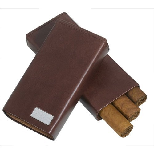 Siena Leather Crushproof 3 Cigar Case
