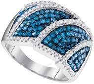 10KT White Gold 1.00CTW BLUE DIAMOND FASHION RING