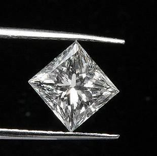 GIA CERT 0.32 CTW PRINCESS DIAMOND D/SI1