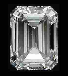 GIA CERT 0.4 CTW EMERALD DIAMOND E/VS1