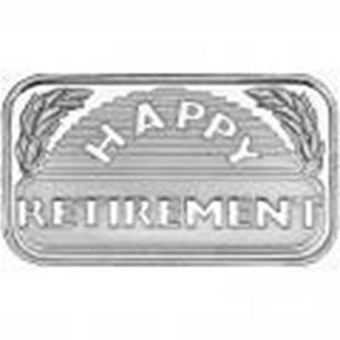 Retirement 2015 .999 Silver 1 oz Bar