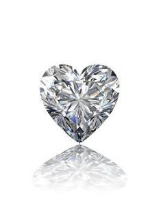 GIA CERT 0.72 CTW HEART DIAMOND D/VVS2