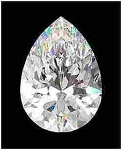 GIA CERT 0.7 CTW PEAR DIAMOND D/I1