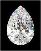 GIA CERT 0.84 CTW PEAR DIAMOND K/VVS1