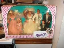 1990, Vintage Toy Doll Set, Wedding Party Midge by Matt