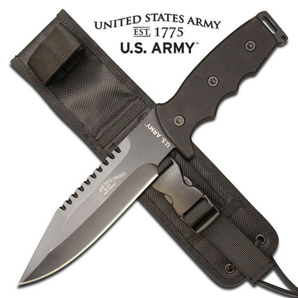 OFFICIALLY LICENSED U.S. ARMY FIXED BLADE KNIFE