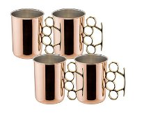 20 oz Brass Knuckle Moscow Mule Mug - Set of 4