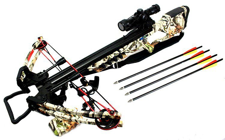 175LBS WOODLAND CAMOUFLAGE COMPOUND HUNTING CROSSBOW