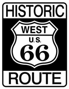 RTE 66 METAL SIGN