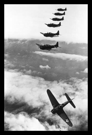 Douglas Dauntless Dive Bombers 12x18 Giclee on canvas