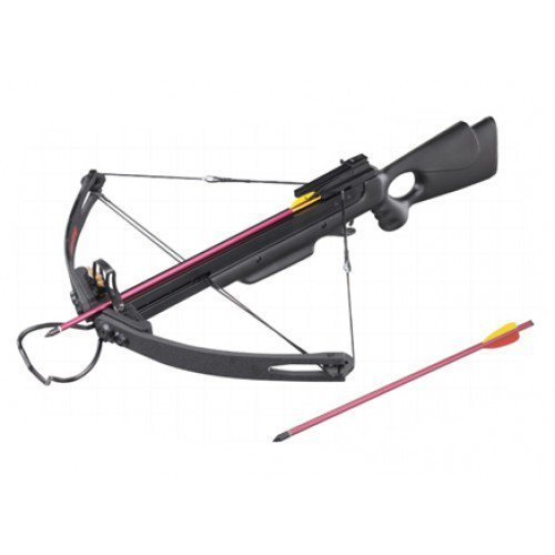 """150LBS ALL BLACK HUNTING CROSSBOW COMES W/2 17"""" ARROWS"""