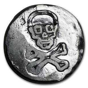 1 oz Silver Round - Skull & Crossbones