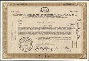 VINATGE 1950s WALTHAM PRECISION INSTRUMENT COMPANY INC