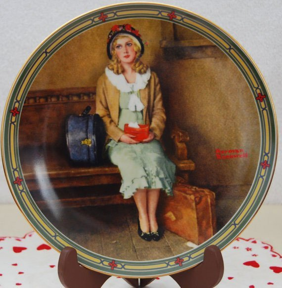 """Vintage 1985 Norman Rockwell A Young Girl's Dream """"The"""