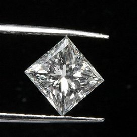 GIA CERT 0.5 CTW PRINCESS DIAMOND H/VVS2
