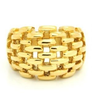 Gold Plated Knit Ring in 18 Karat Gold Plate