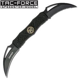 "4.5"" CLOSED FOLDING KNIFE W/SNIPER MEDALLION ON HANDLE"