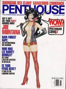 VINTAGE NOVEMBER 1993 PENTHOUSE MAGAZINE - Joe Montana