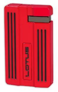 Lotus L57 Moto Single Jet Flame Cigar Lighter - Red & B