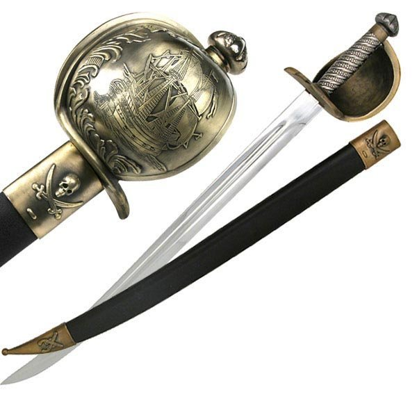 """30.5"""" MEDIEVAL STYLE SWORD W/METAL HANDLE GRAPHIC"""