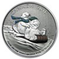 2016 Canada 1/4 oz Silver $25 Winter Fun