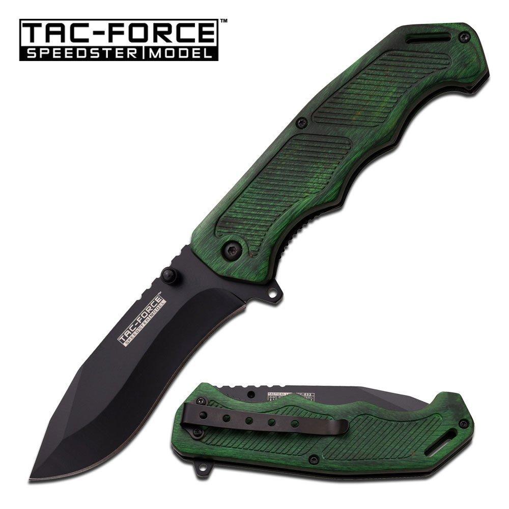 """TAC-FORCE 8.5"""" S/A POCKET KNIFE; WOOD HANDLE W/POCKET C"""